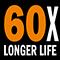 60x по-дълъг живот